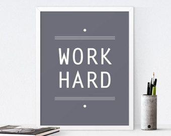 Inspirational Printable Art Office Decor Quote Motivational