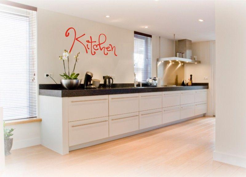 Kitchen tekst stickers interieurstickers atelier rosa lyne