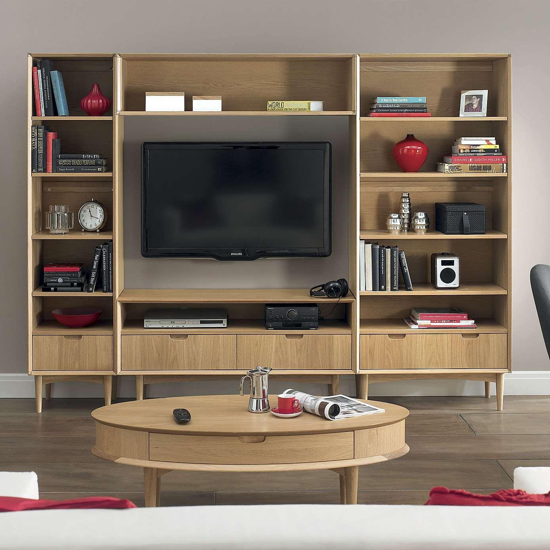 Skandi Oak Bridging Unit Oak furniture living room