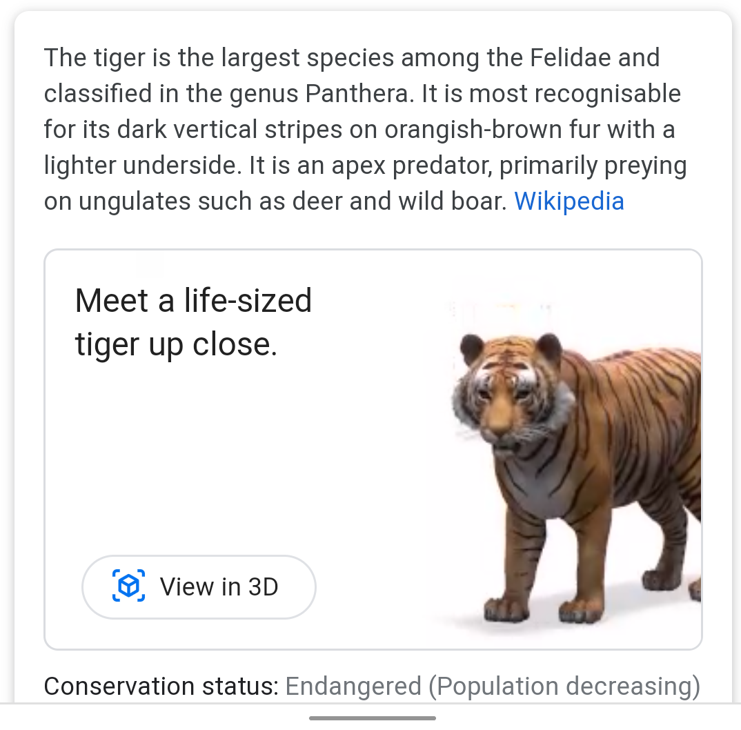 Google 3d Animals And Objects Which Ones Are Available And How To Use Them List Of Animals Animals Knowledge Panel