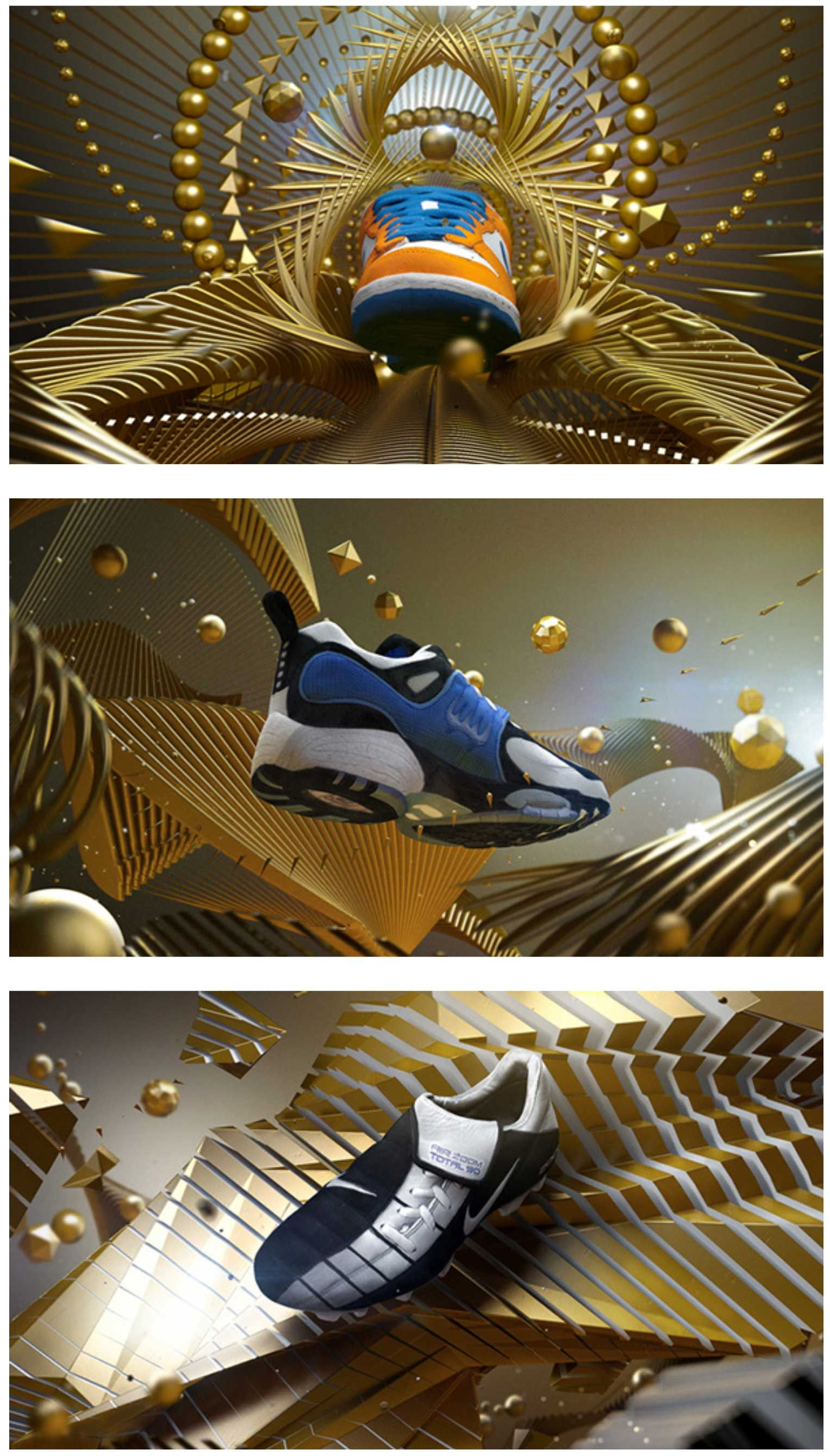 "Nike, Genealogy of innovation ""Golden Years"" Motion"