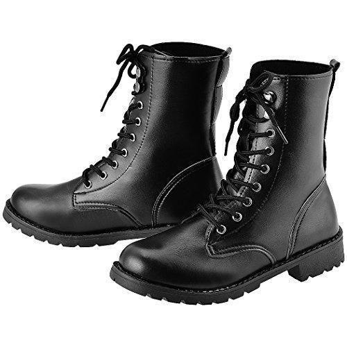 Comprar Ofertas de MEXI Mujer Militar PU cuero Martin Botas Cordones  Ejército Zapatos barato. ¡Mira las ofertas! 2402f11d1a9c5