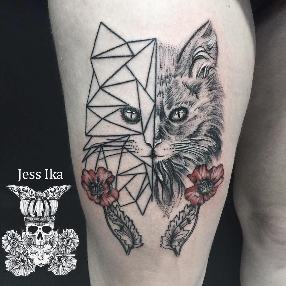 tatouagechat,jessika,cattattoo,dotline,arxe , Studio de piercing et tatouage  ,