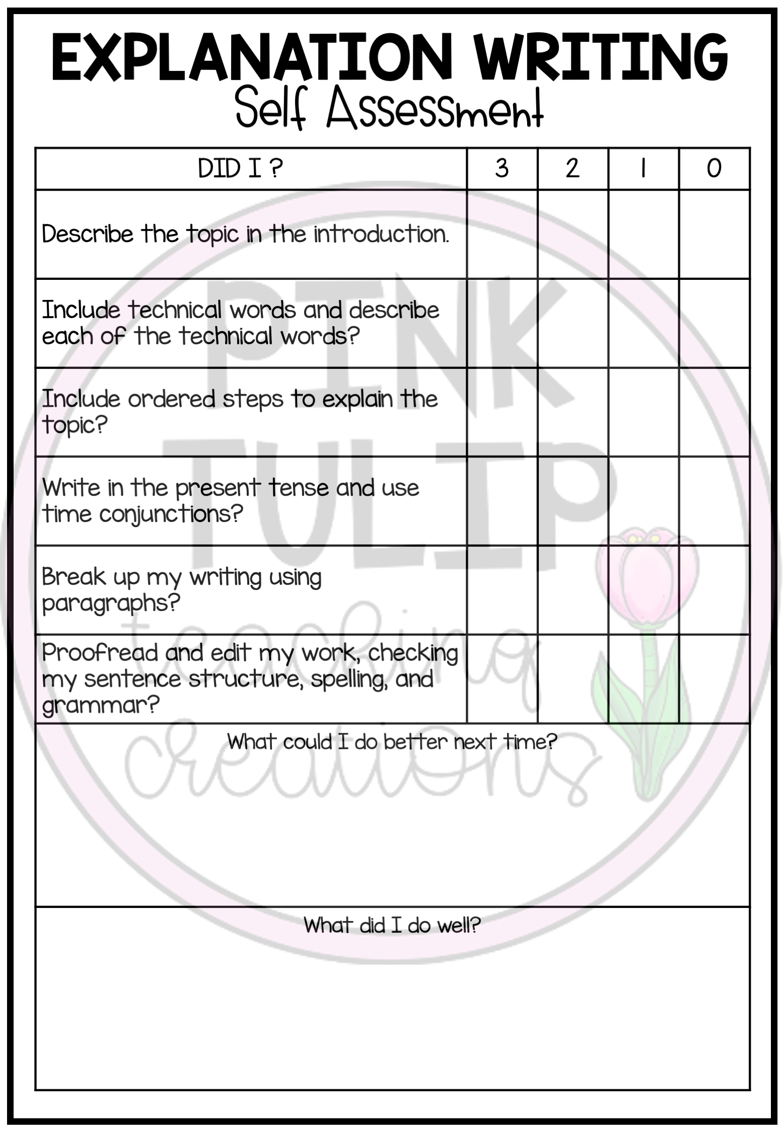 Explanation Text Writing Worksheet Pack No Prep Lesson Ideas Explanation Writing Assessment Rubric Writing Worksheets [ 2249 x 1557 Pixel ]