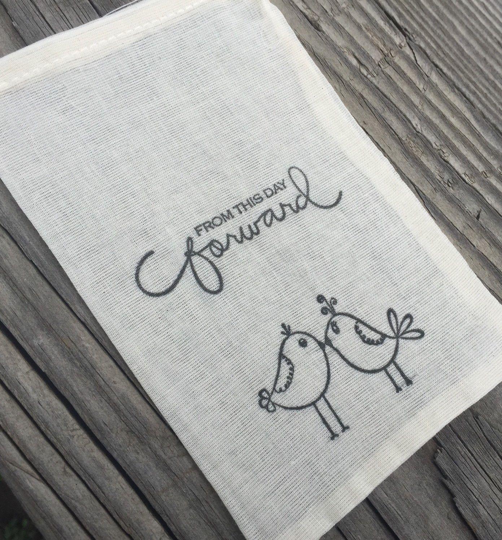 10 love bird favor bags, wedding favor bags, wedding welcome bags ...
