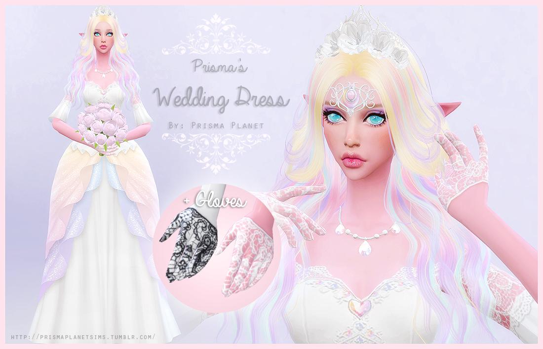 Prisma Wedding Dress Gloves Sims Stuff