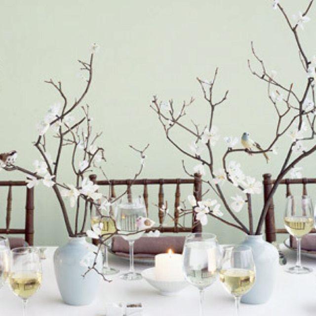 Branch Centerpiece Non Floral Centerpieces Branch Centerpieces Wedding Centerpieces Diy