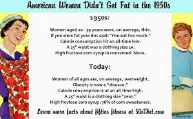 Vintage 1950s Diet Tips: American Women Didn't Get Fat in the 50s Healthy