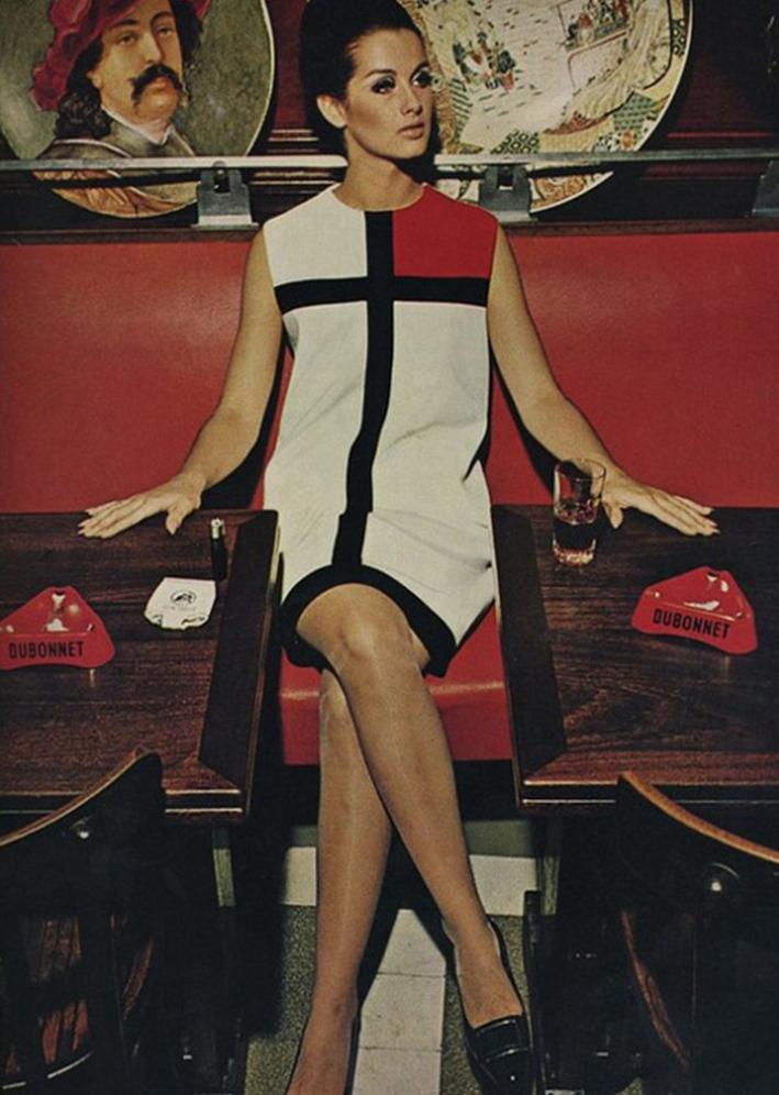 YSL Mondrian dress since 1965. | 60´s | Pinterest | 60er mode, 60er ...