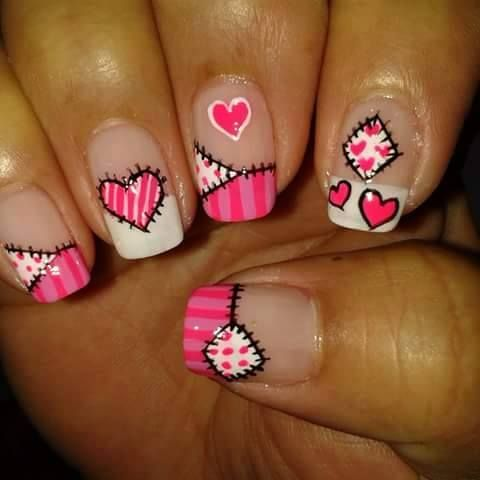U as decoradas u as fucsia nailart pink u as bonitas pink fucsia pinterest nail - Unas bonitas decoradas ...