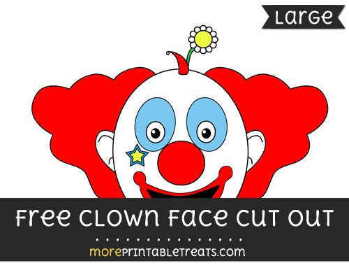 photo regarding Printable Clown Face known as No cost Clown Facial area Minimize Out - High dimension printable Totally free