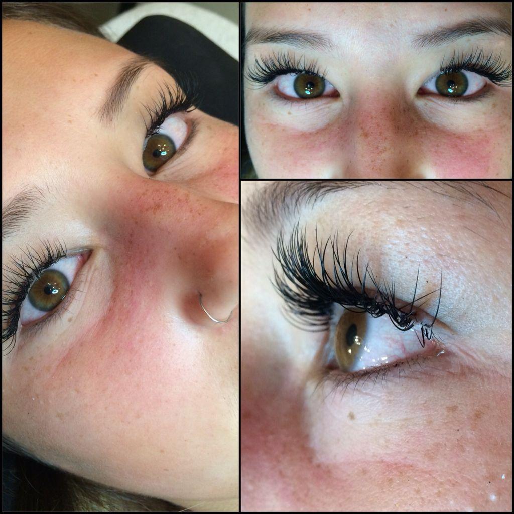 Semipermanent individually adhered synthetic eyelash