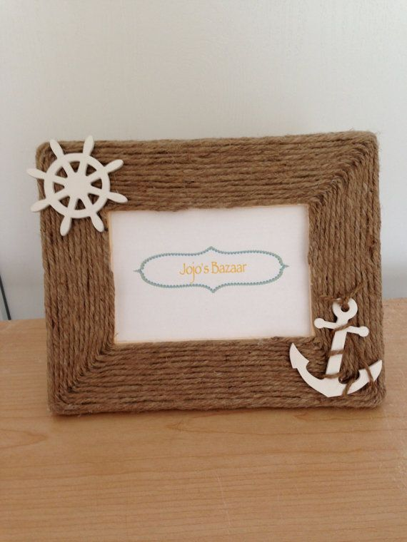 4x6 Nautical Picture Frame In Natural Jute With By Jojosbazaar