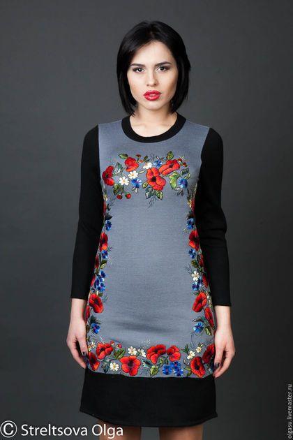 вышитое платье ec15da476b384