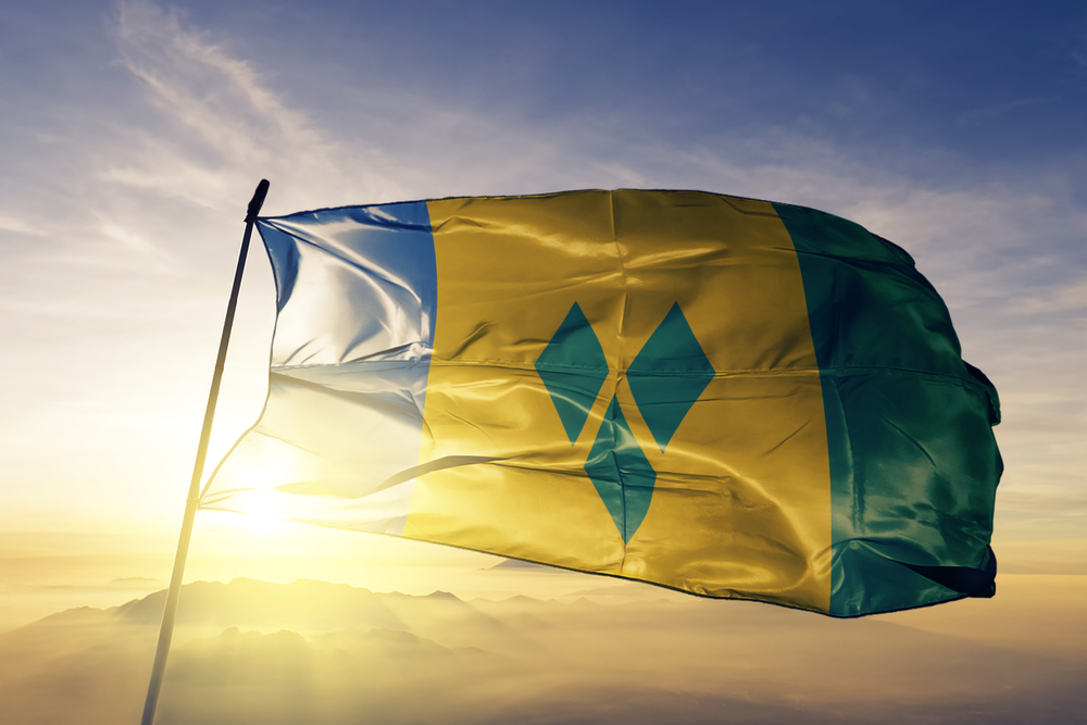 Saint Vincent and the Grenadines national flag textile cloth