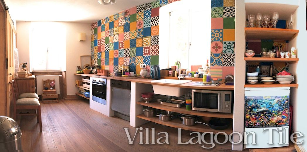 German kitchen with patchwork tiles ideas para paredes   distintos