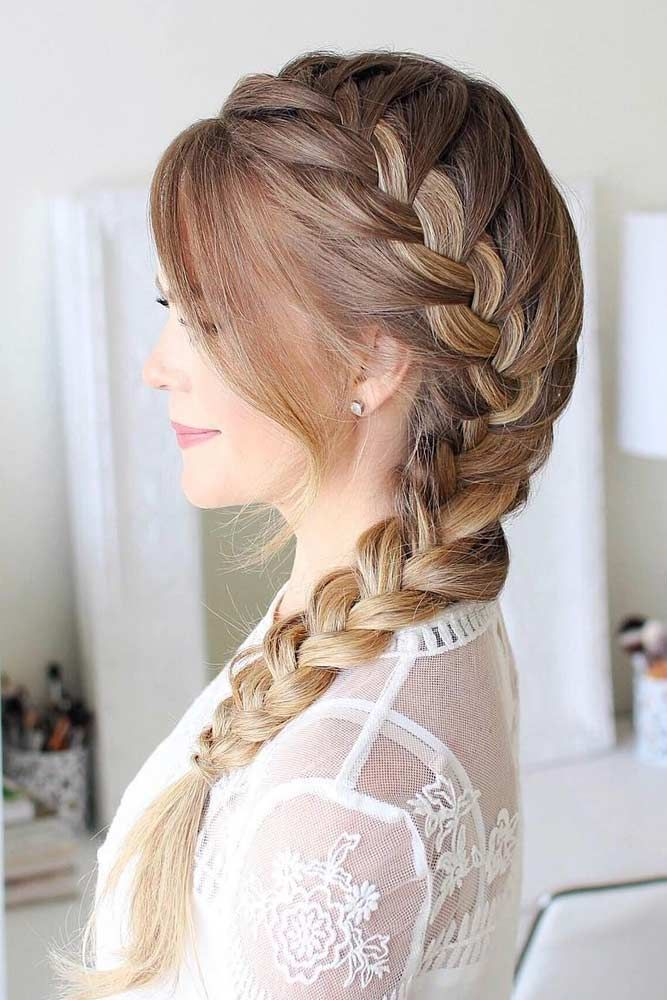 30 lange Frisuren für runde Gesichter – bleib ruhig und style dein Haar #braidedhairstyles