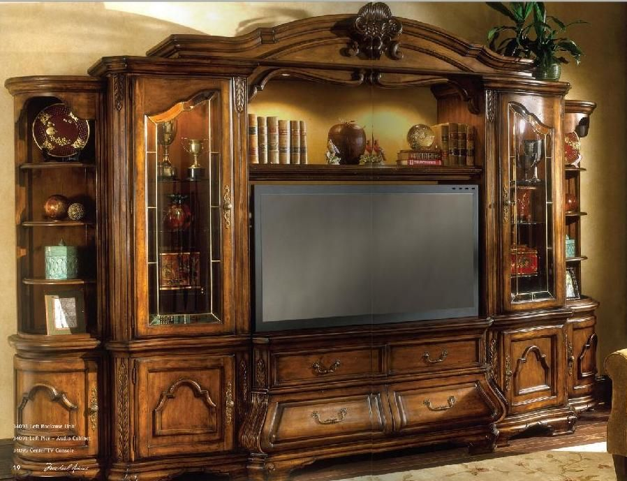 Aico Furniture Tuscano 6 Piece Entertainment Wall Unit