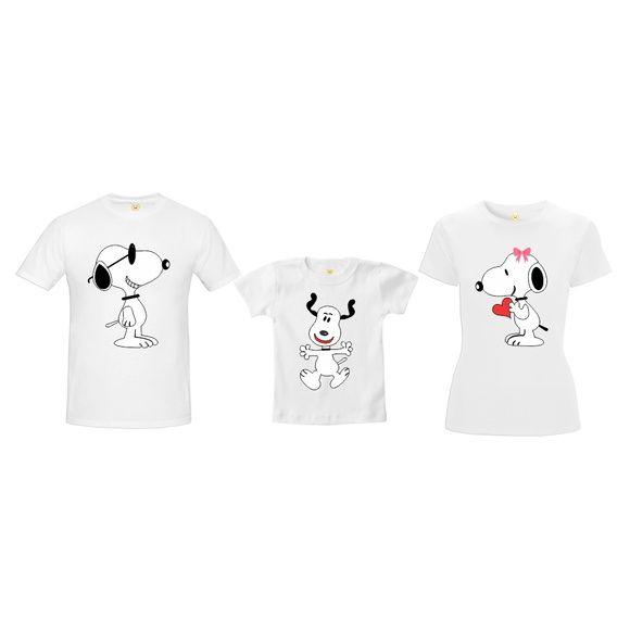 677e7dbae2 Compre Camiseta Pai Mãe Filho Snoopy Menino no Elo7 por R  159