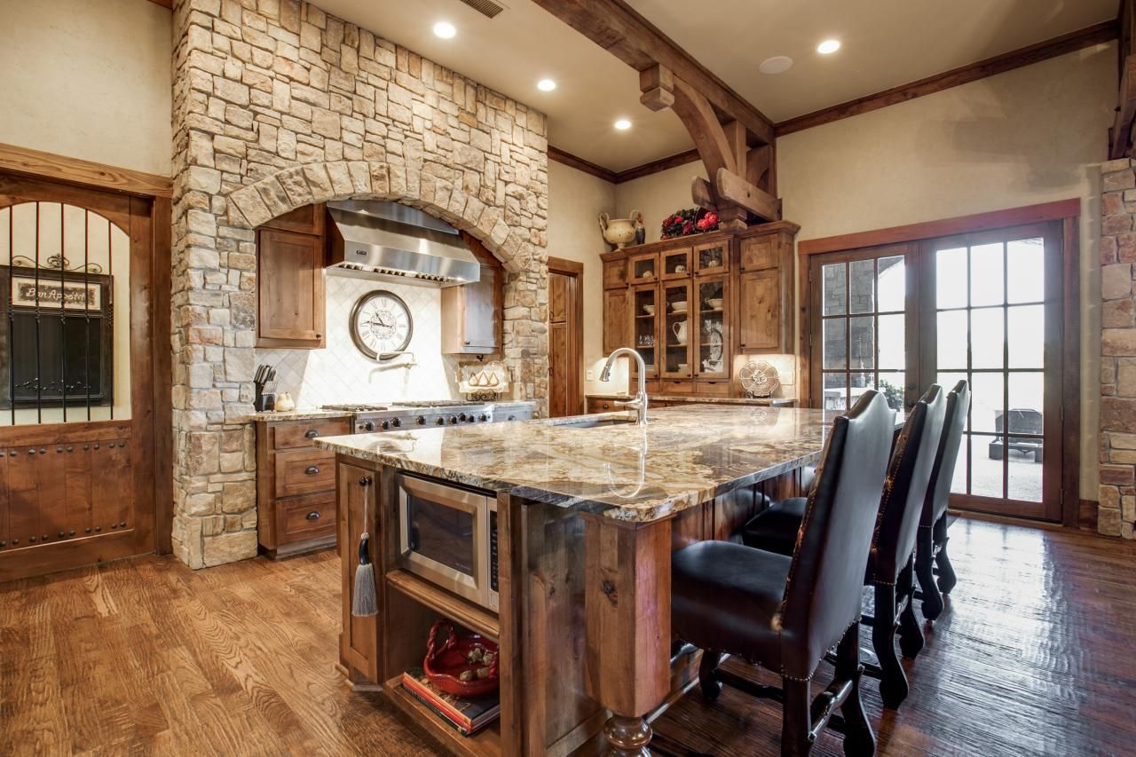 Dream Rustic Kitchens This Luxurious Kitchen In The Jonas Brothers' Texas Home Has A