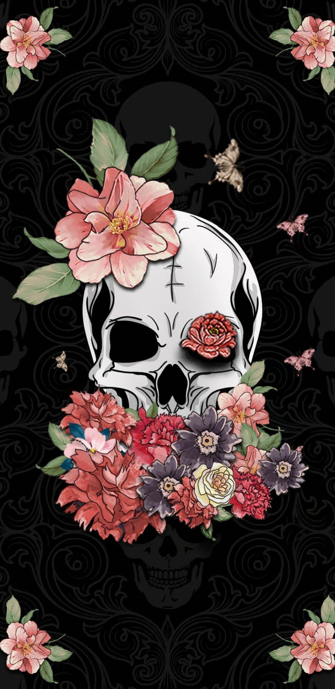 Pin By Buddy Milligan On Skull Skeleton Wallpaper Skull Wallpaper Skull Art Skull Artwork