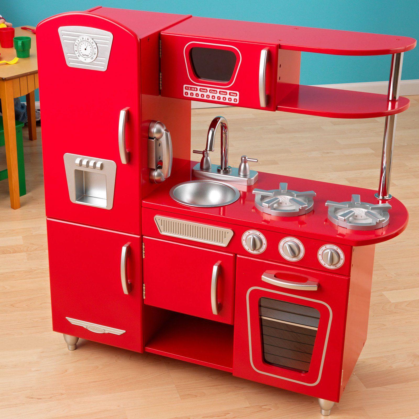 kidkraft red vintage play kitchen 53173 53173 products rh pinterest co uk KidKraft Retro Kitchen and Refrigerator KidKraft Classic Kitchen