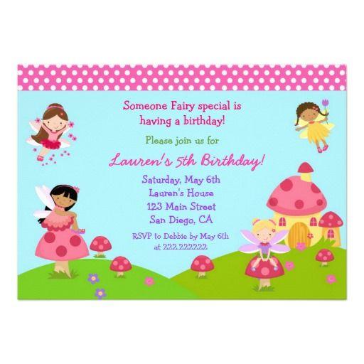 Tarjetas Invitacion Cumpleaños Hadas Buscar Con Google