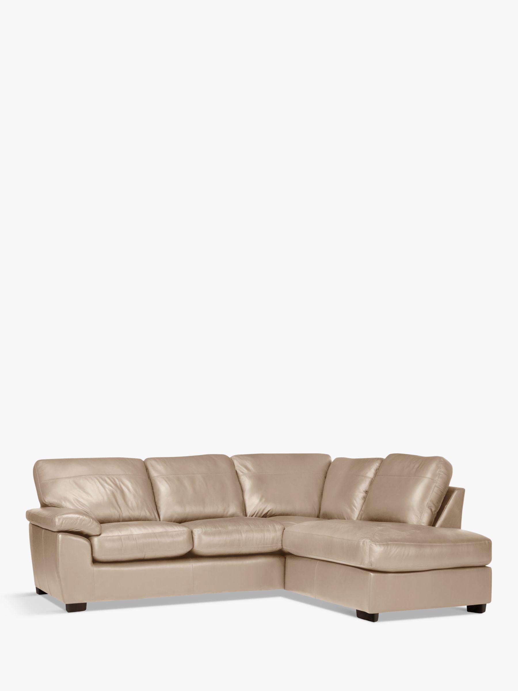 John Lewis Partners Camden Leather Rhf Chaise Corner End Sofa Dark Leg Leather Sofa Sofa John Lewis