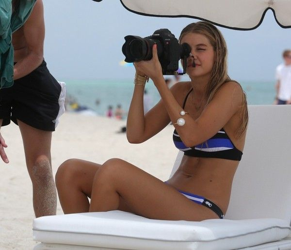 1ef63ff36ec0b Gigi Hadid Photos - Gigi Hadid Does a Bikini Shoot - Zimbio