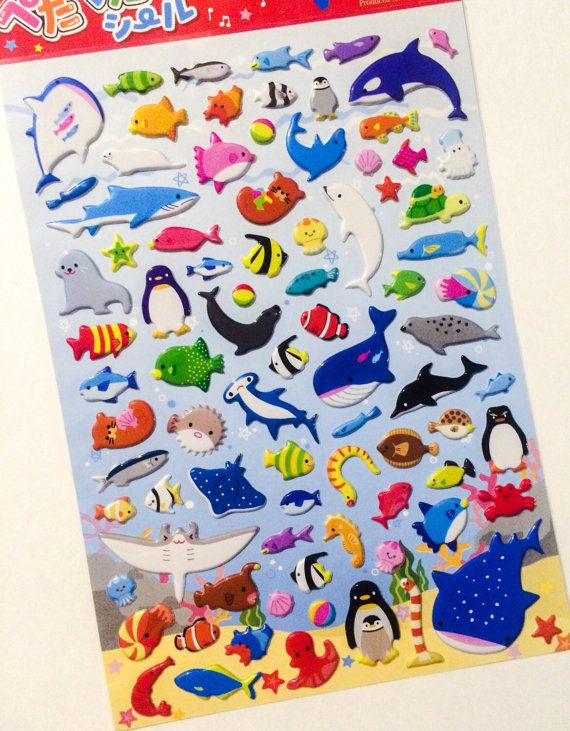 Hey, I found this really awesome Etsy listing at https://www.etsy.com/uk/listing/231186847/japanese-kawaii-stickers-cute-ocean