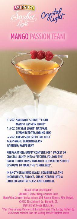 Happy Hour Now Comes With Sorbet Smirnoff Sorbet Light Iced Tea Drinks Smirnoff Vodka Drinks