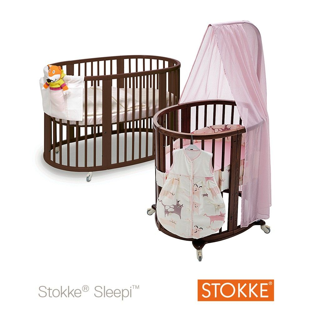 stokke sleepi mini crib  walnut  baby products that grow with  - stokke sleepi mini crib  walnut