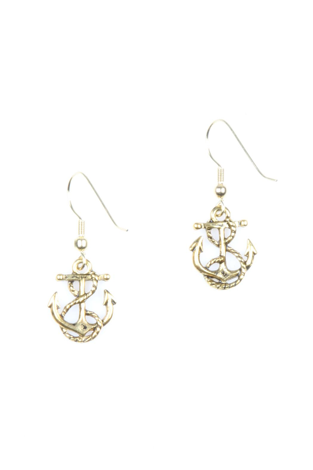 Bliss Anchor Earrings | Anchor earrings, Nautical anchor ...