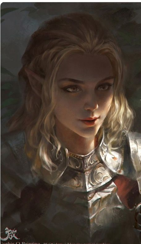 Blonde elf d&d
