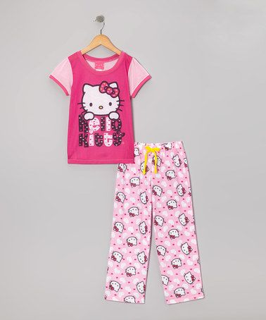 Take a look at this Pink Hello Kitty Pajama Set - Girls by Eastern Infants Wear on #zulily today!