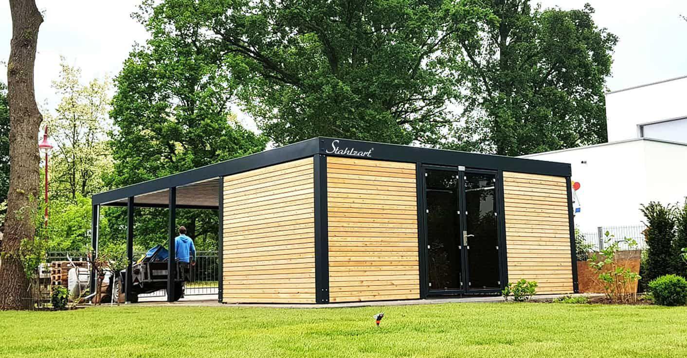 Design Carport Metall modern Aachen · Doppel · nach Maß