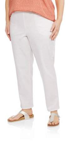 f9ae0485e36 Just My Size Women s Plus-Size 2-Pocket Pull-On Stretch Woven Pants ...