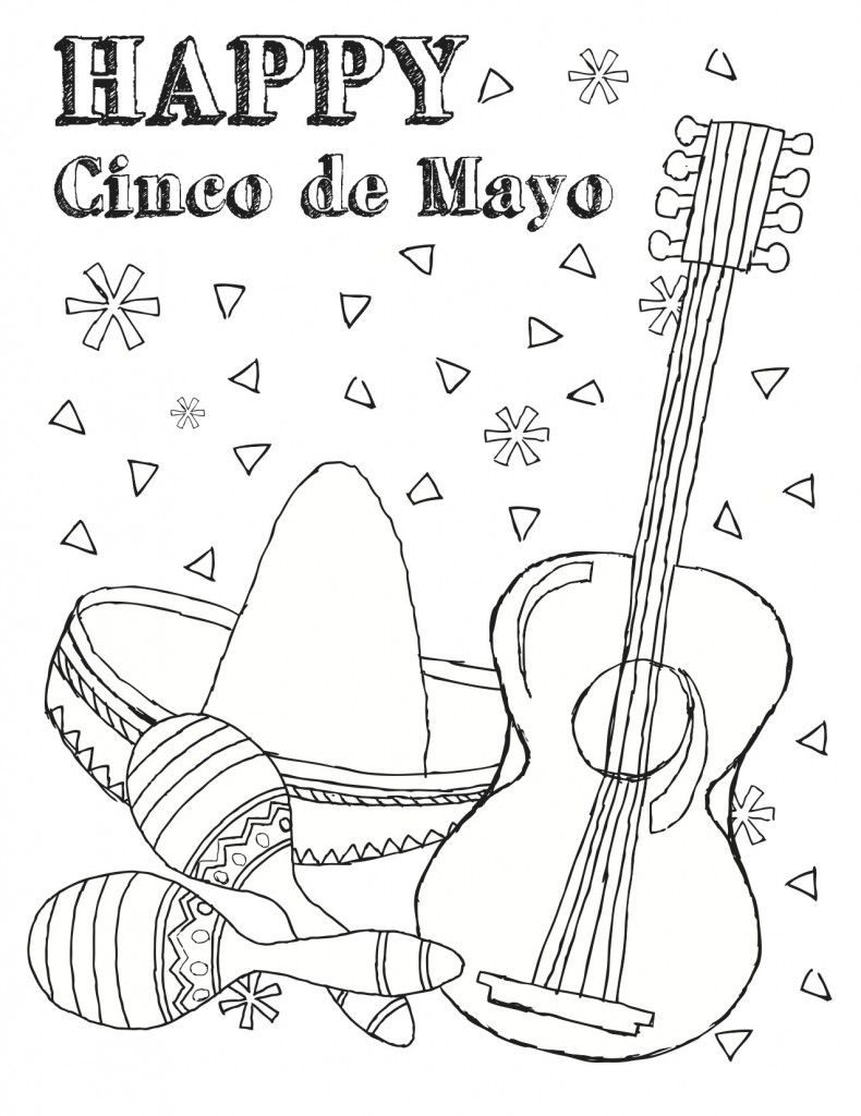 Free Printable Cinco De Mayo Coloring Pages For Kids Best Coloring Pages For Kids Cartoon Coloring Pages Coloring Pages For Kids Coloring Pages