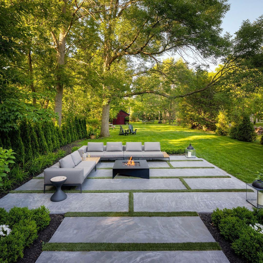 Mcneill Landscape Photography On Instagram Happy Easter Everyone This Thornbury Property Was Outdoor Fire Table Backyard Fire Modern Fire Pit