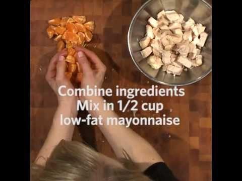 Just 4 ingredients make up this tasty kidney friendly dish perfect davita eats mandarin chicken salad kidney disease and dialysis videos davita forumfinder Image collections
