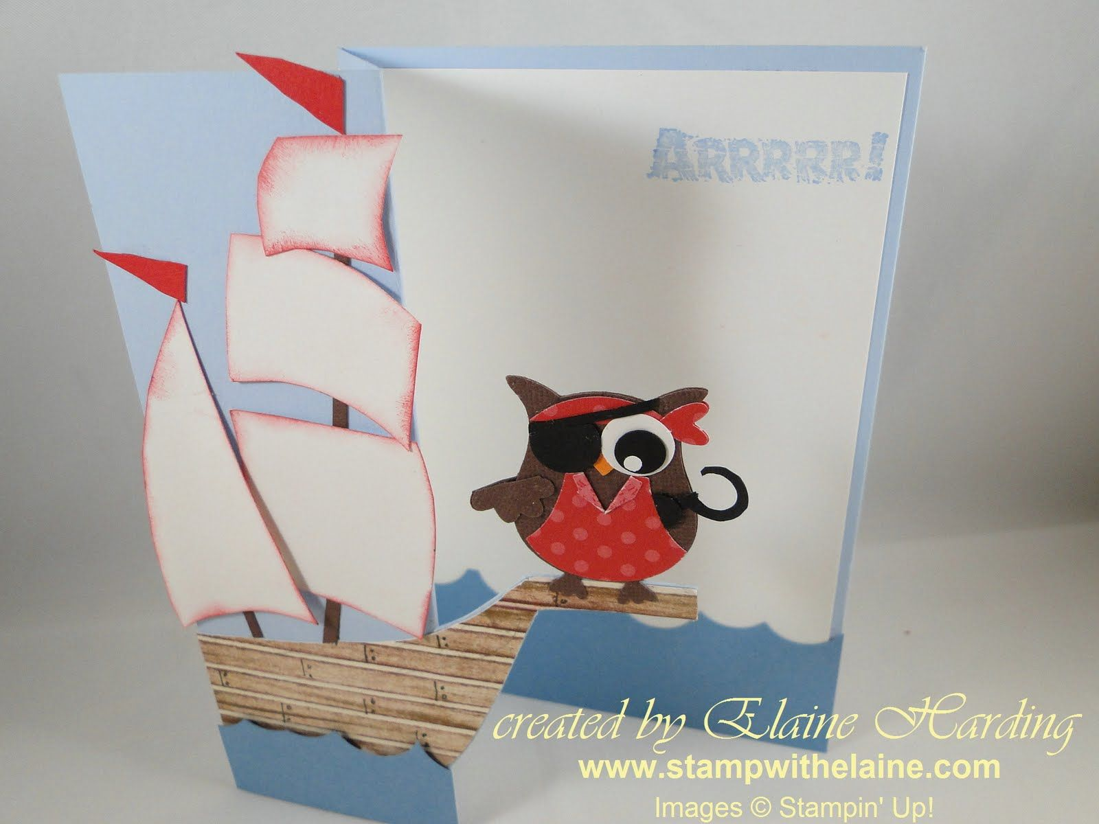 Pirate ship and pirate owl card using owl punch