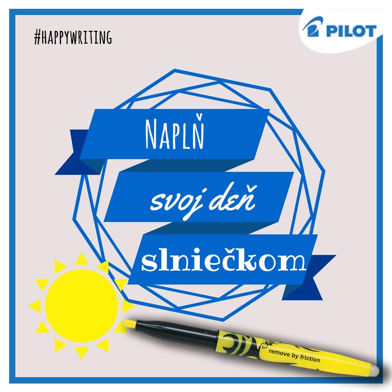 Či už slniečko svieti alebo nie, vždy existuje niečo, čo rozjasní tvoj deň! S Frixion Light prepisovateľným zvýrazňovačom ti to pôjde samo #pilotpen #happywriting #sun #pen