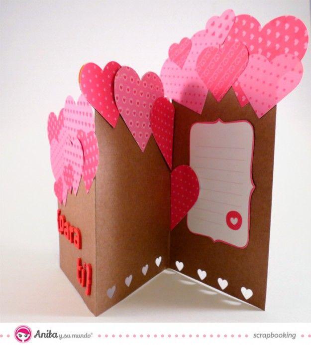 10 ejemplos de tarjetas de amor hechas a mano y - Manualidades para hacer tarjetas ...