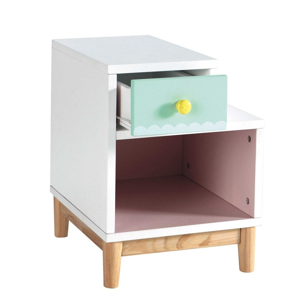 Children Kids Bedside Table Furniture Decor