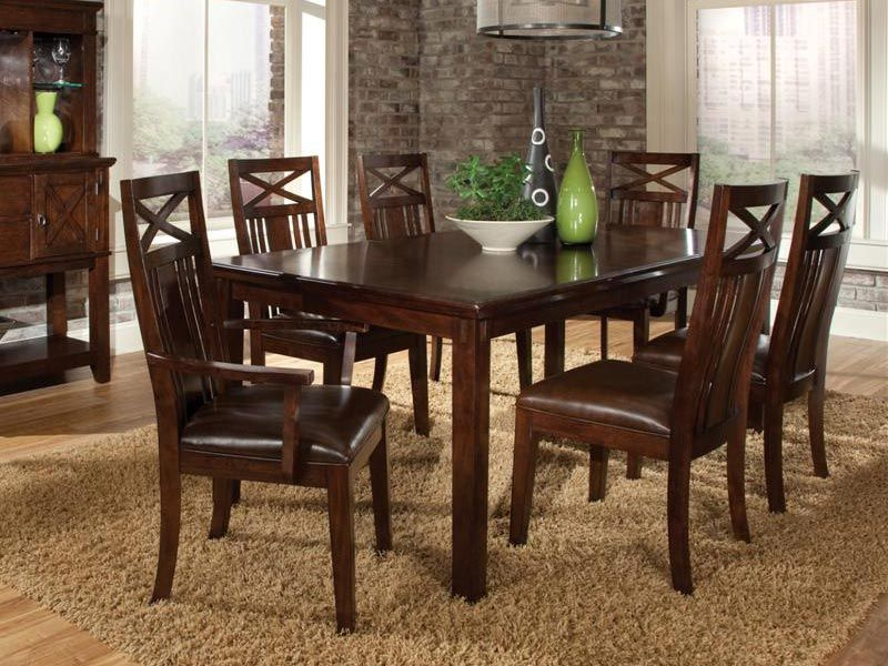 Cardi S Furniture 7pc Diningroom 849 99 400109927 Wood Rectangle Dining Table Dinette Sets Dining Room Sets
