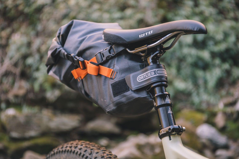New Ortlieb Bike Packing Seat Pack Gray Black Road Touring Bike
