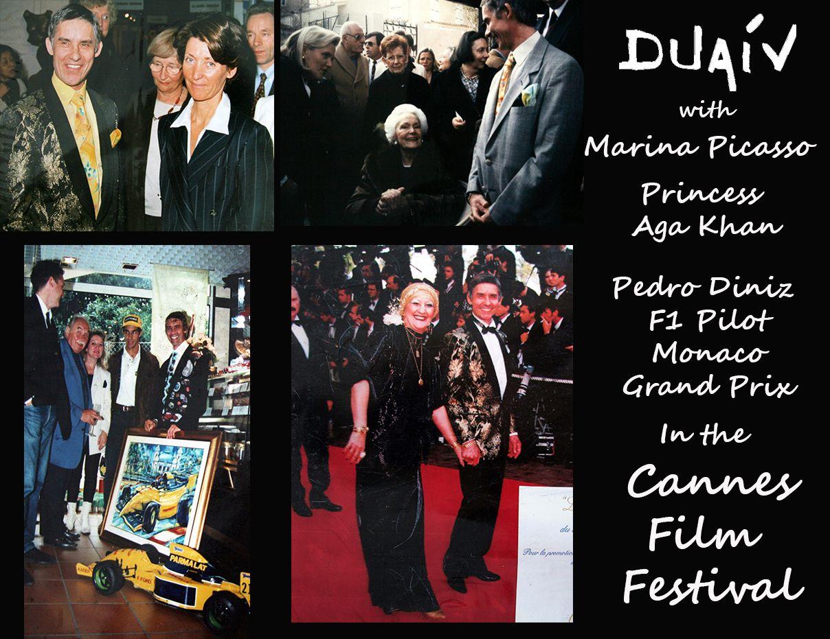 Duaiv With Celebrities Classical Musicians Cannes Film Festival Pedro