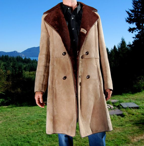 Mens Full Length Shearling Coat