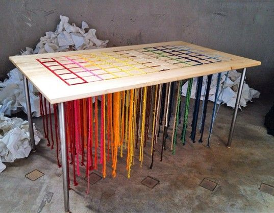 Denis Drouet, Order in Chaos, Play in Progress, Ventura Lambrate, Milan Furniture Festival, green design, eco design, sustainable design, table, children