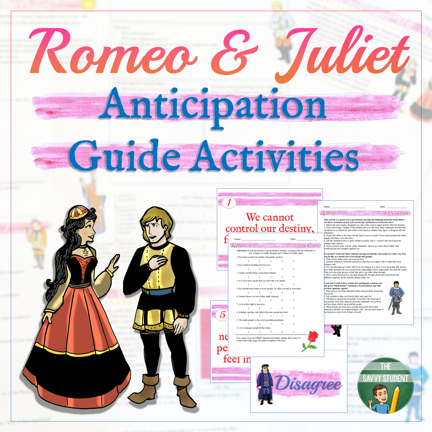 Romeo And Juliet Engaging Anticipation Guide Activity